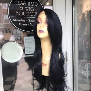 Accessories - Wig Long Blue Black Layers Swisslace Lacefront Wig